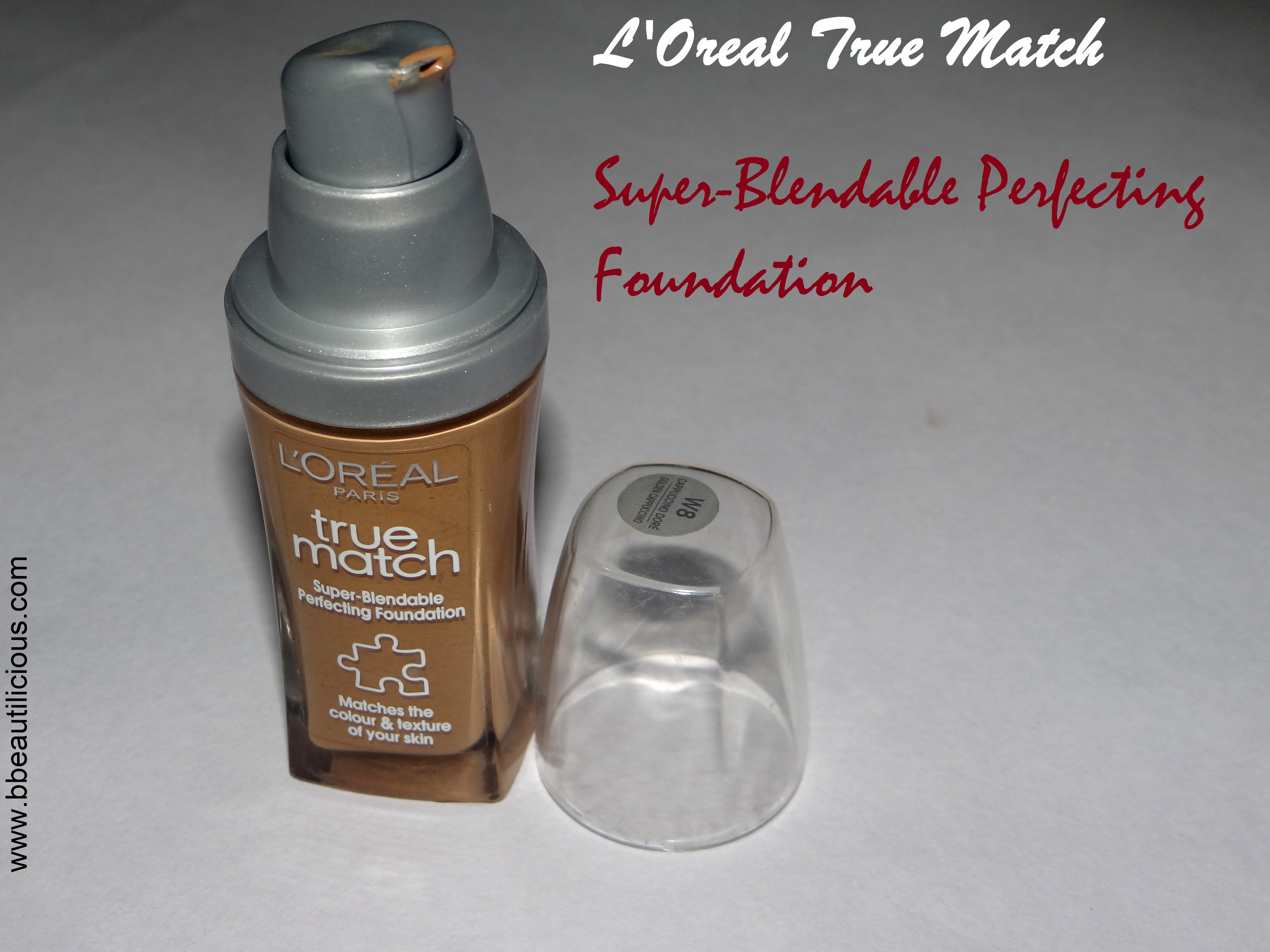 L'Oreal True Math Supper Blendable Skin perfecting foundation warm capuccino