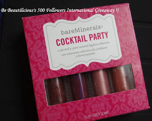 Be Beautilicious's 500 Followers International Giveaway!! (Closed)