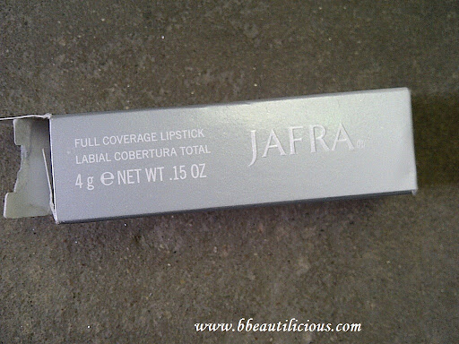 Jafra Full Coverage Lipstick Pure Jasmine Review Swatches