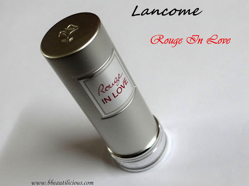 Lancome Rouge In love Lipstick Rose Sulfureuse Review