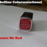 Maybelline Colorsensational Lipstick – Pleasure Me Red Review