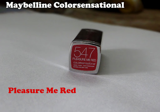 Maybelline Colorsensational Lipstick - Pleasure Me Red Review