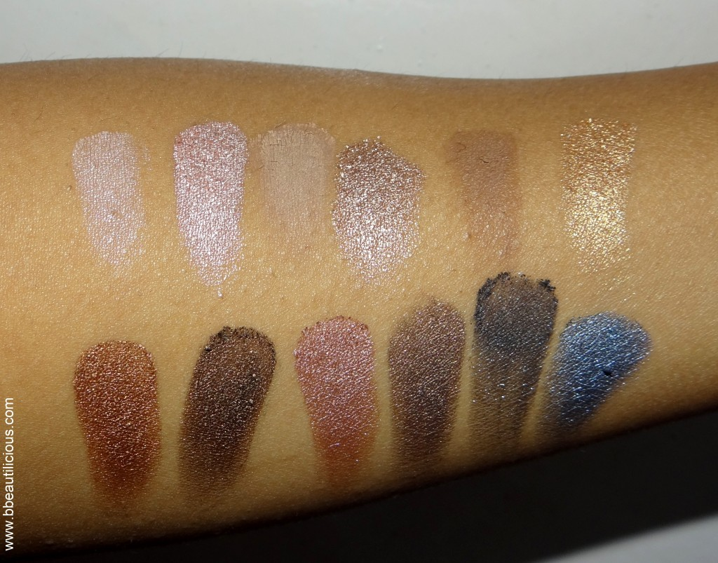 MUA Undressed eyeshadow palette swatches