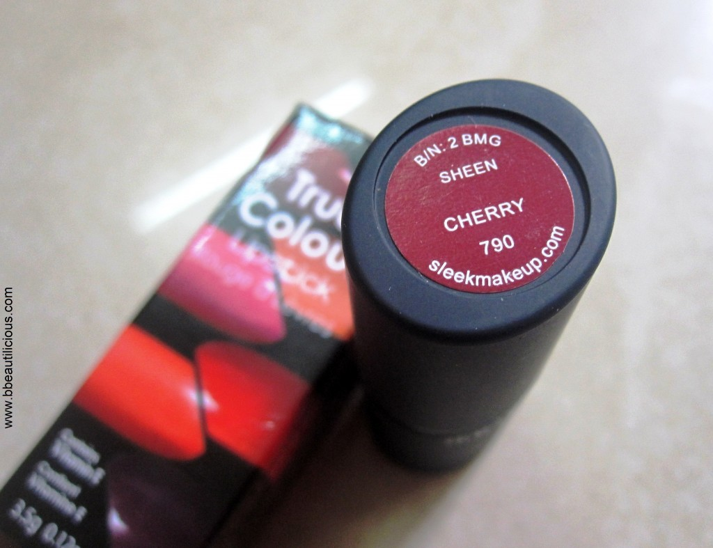 Sleek True Color Lipstick in Cherry 2 1024x787