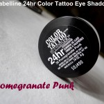 Maybelline Color Tattoo Eyeshadow Pomegranate Punk : Review, Swatches & EOTD