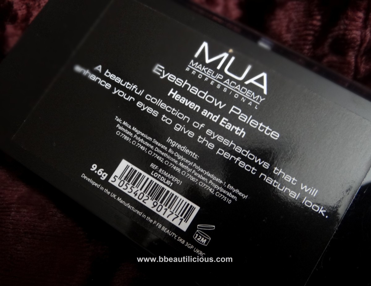 MUA Heaven & Earth Eyeshadow palette review