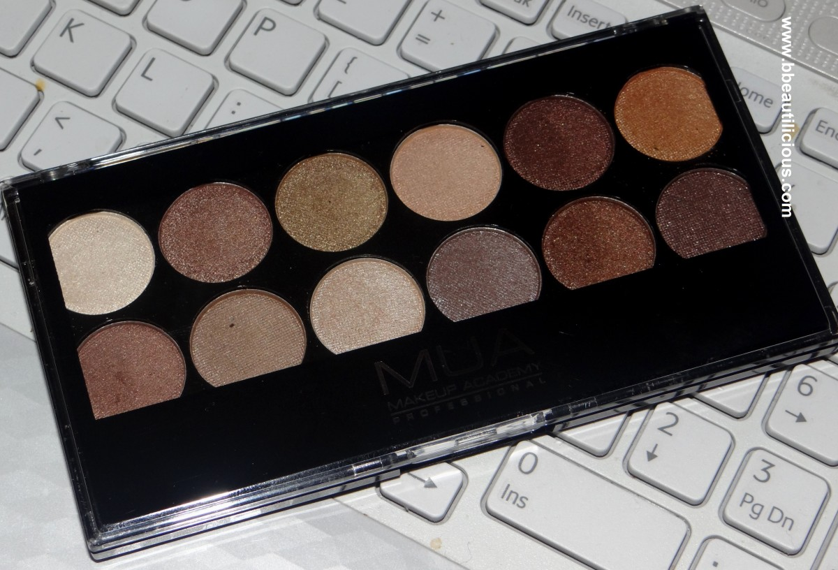 MUA Heaven & Earth Eyeshadow palette swatches