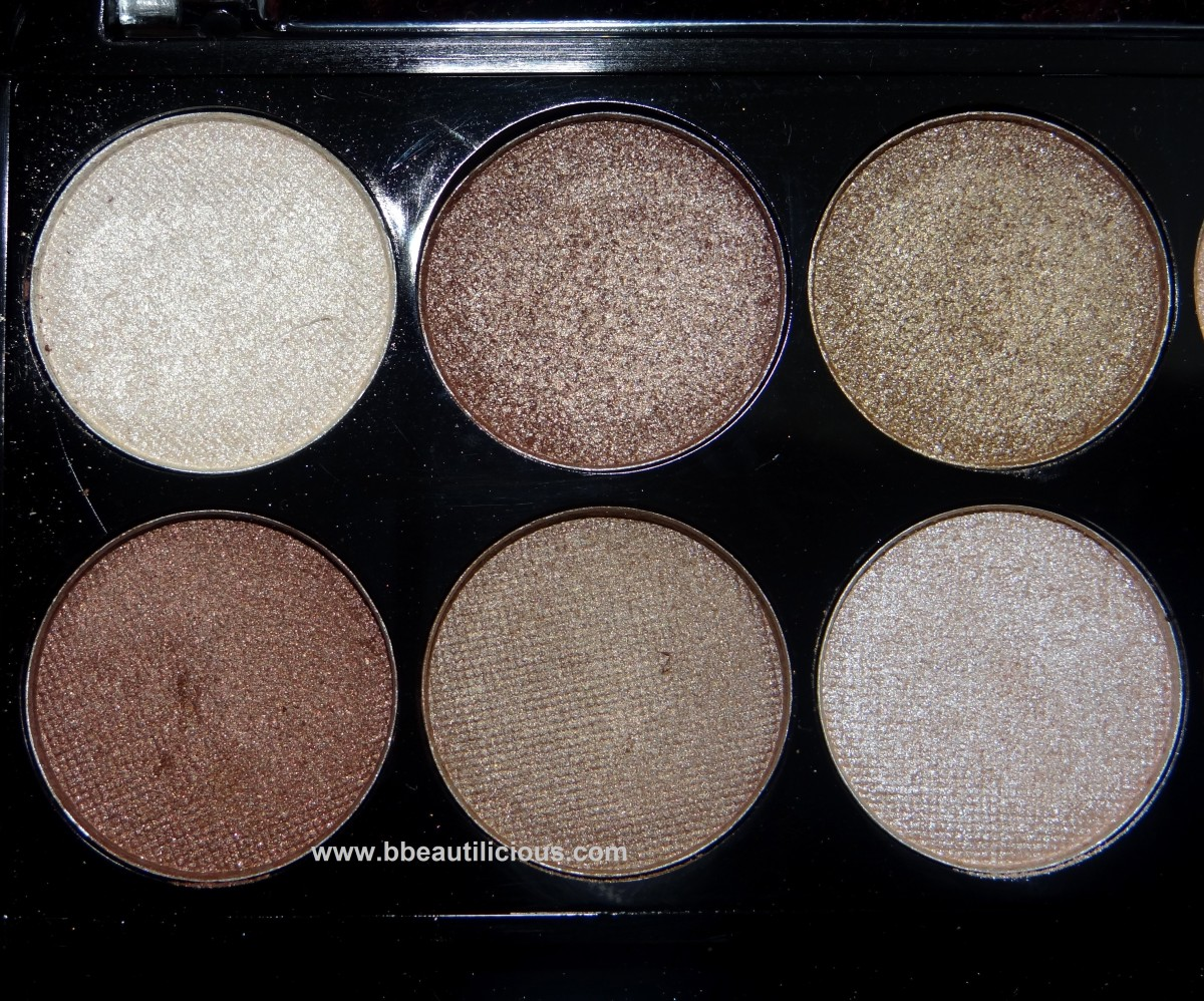 MUA Heaven & Earth palette swatches