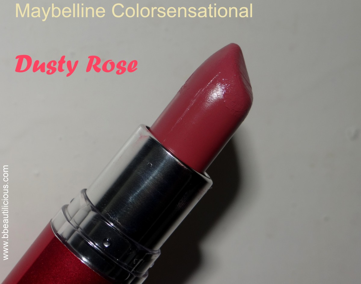 Maybelline Colorsensational Lipstick Dusty Rose swatches