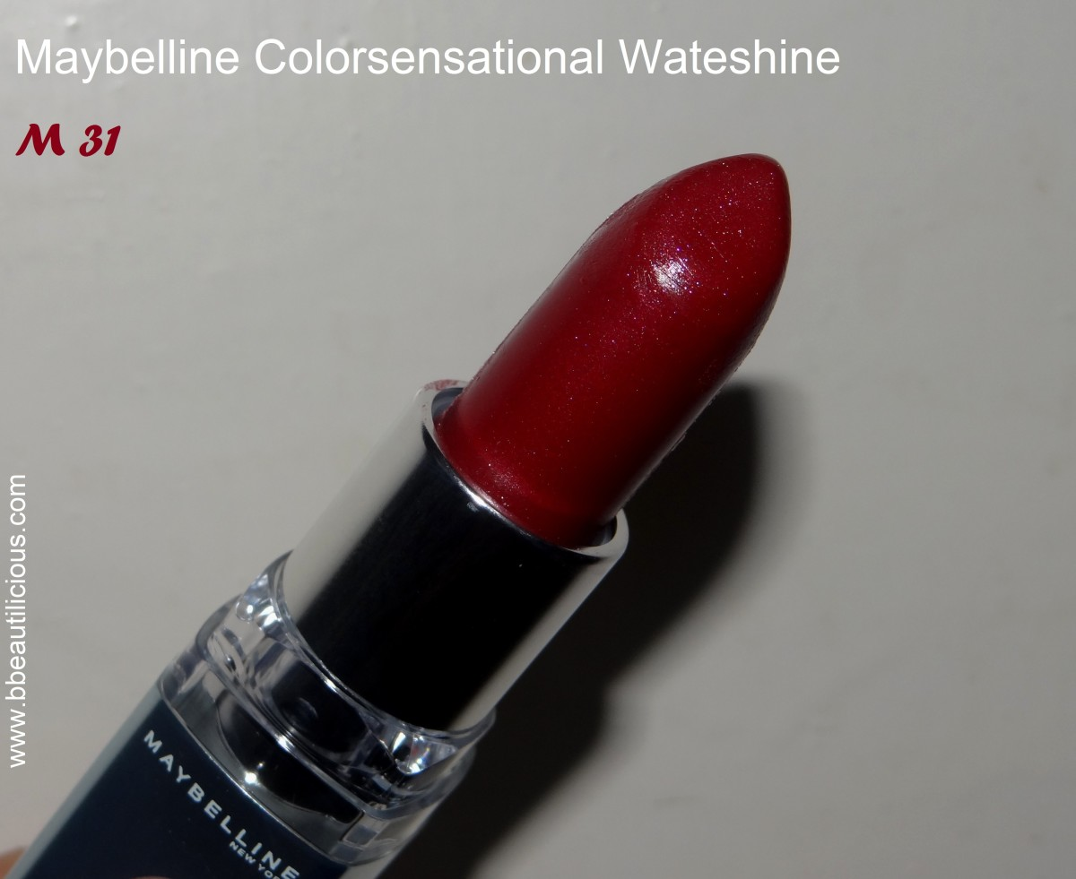 Maybelline Watershine M31 swatches