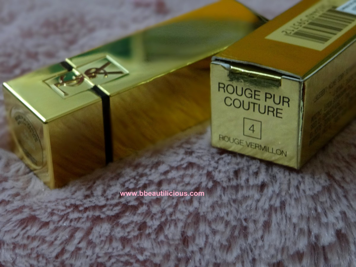 YSL Rouge Pur Couture Rouge Vermillon#4 Review Swatches Photos