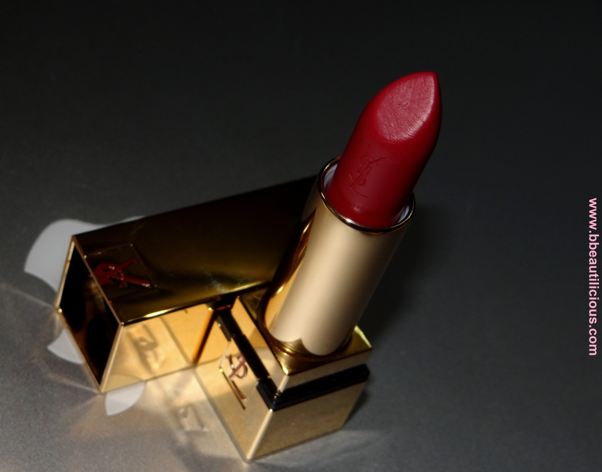 YSL Rouge Pur Coture Rouge Vermillon swatch and review