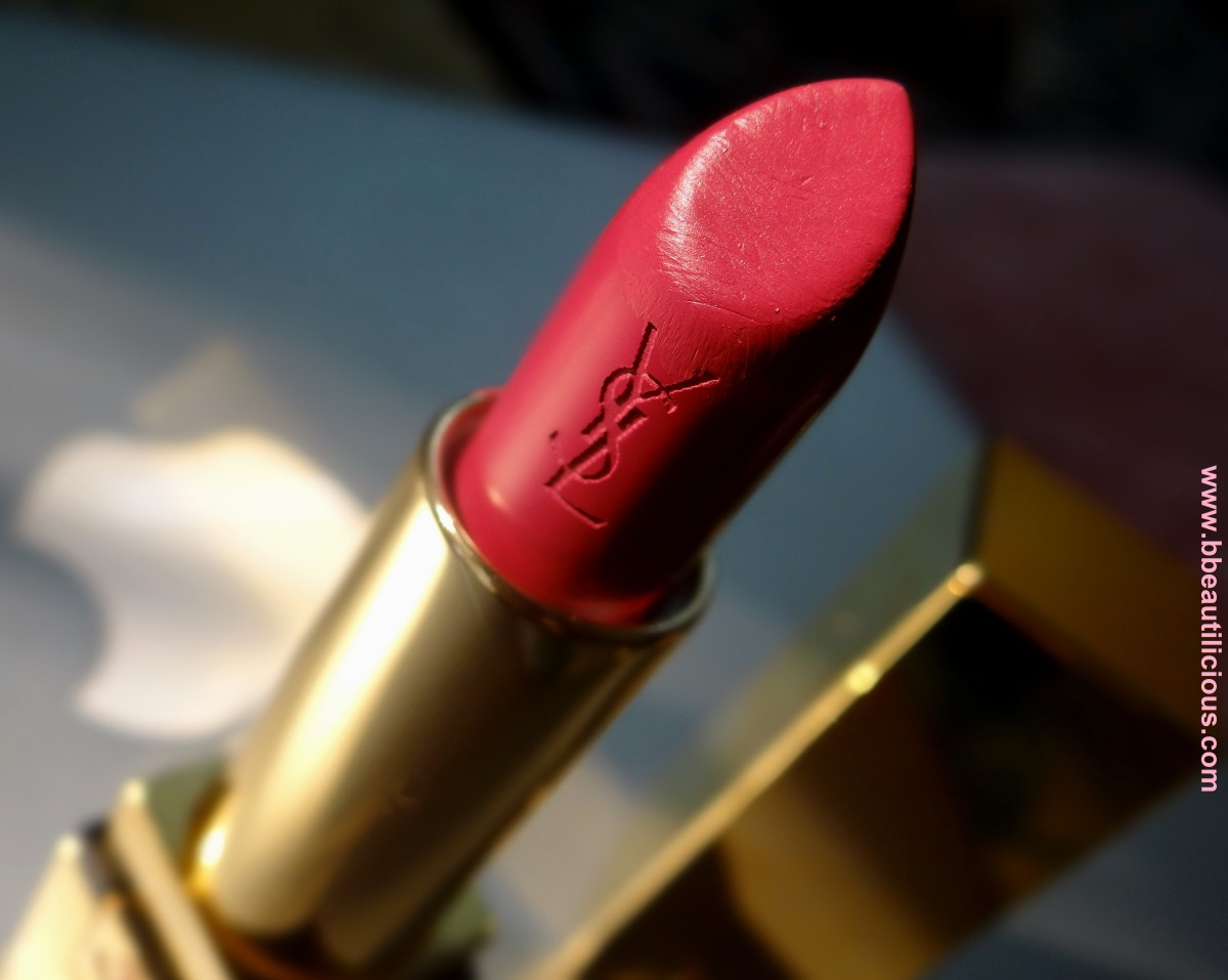 YSL Rouge Pur Coture Rouge Vermillon swatches and review