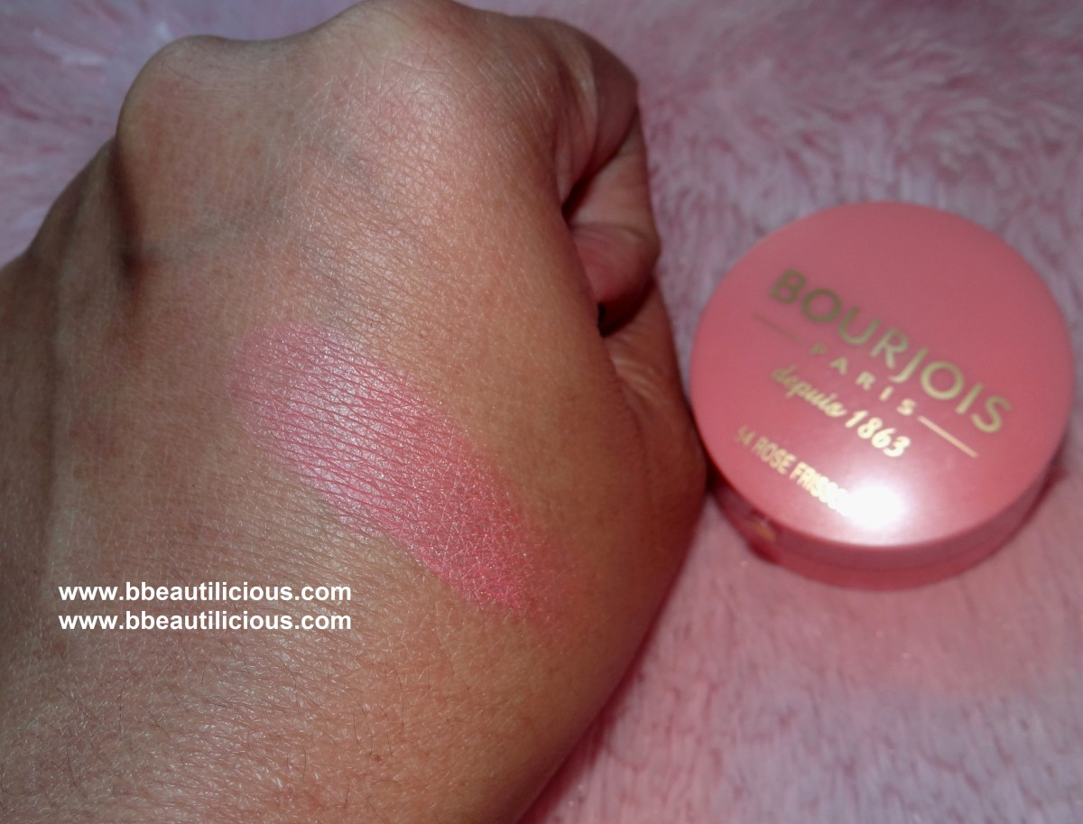 Bourjois 54 Rose Frisson Blush review and swatches