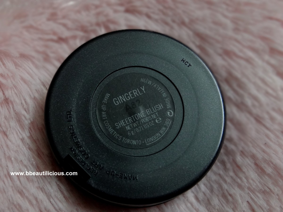 MAC Gingerly Blush review & swatches