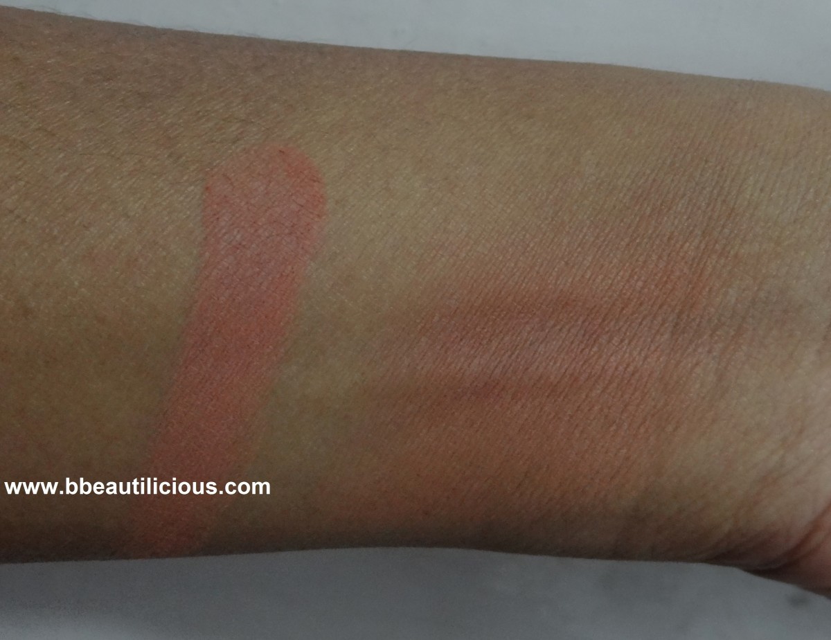 MAC Gingerly Blush swatches