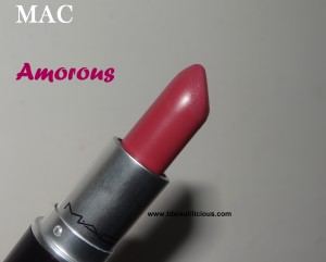 MAC satin lipstick Amorous swatches
