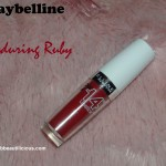 Maybelline Super Stay 14hr Lipstick Enduring Ruby Review Swatches Photos