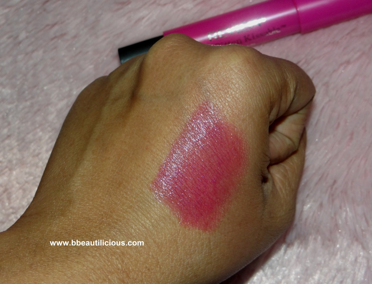 Revlon Just Bitten Kissable Lip balm Stain Lovesick  review and swatches