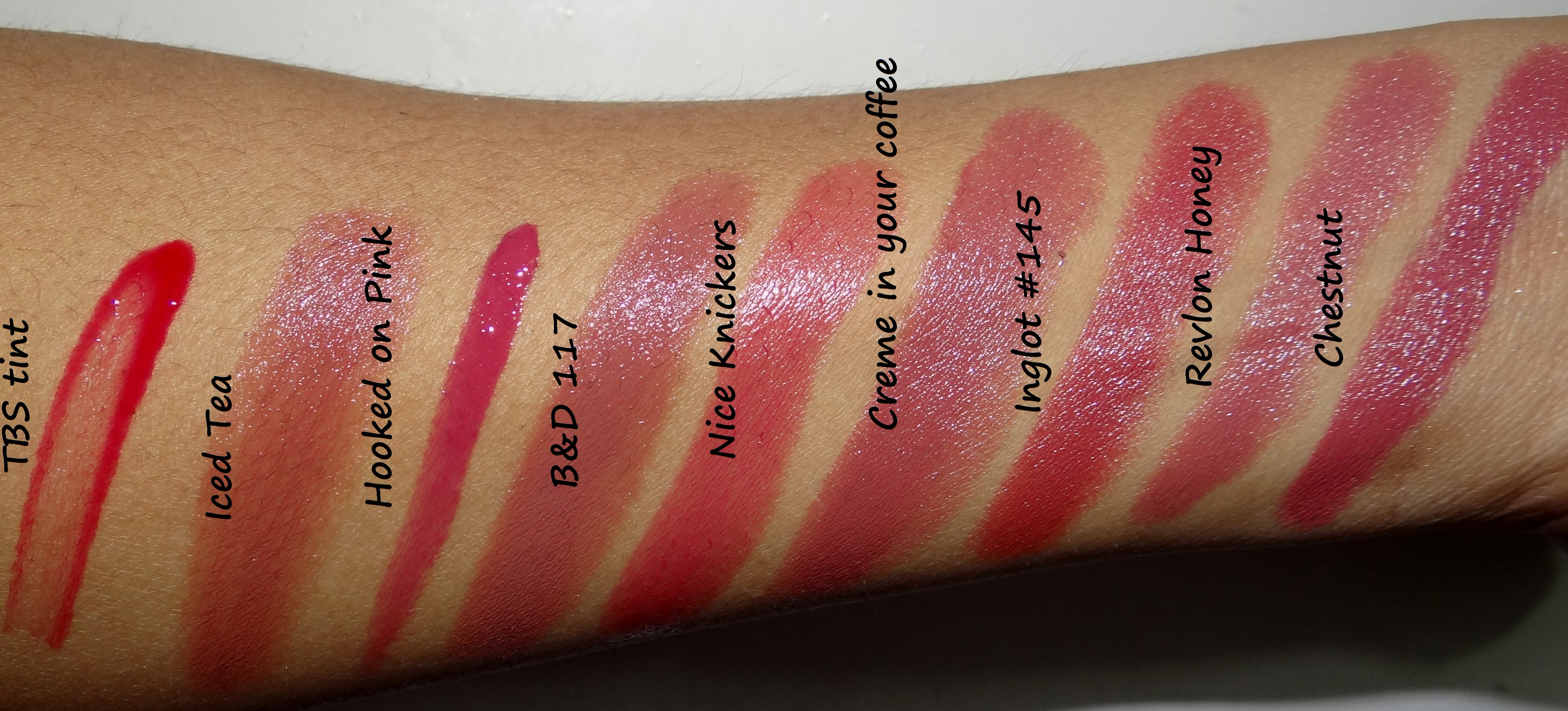 Swatches Everyday Lipsticks