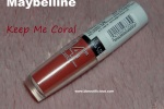 Maybelline Superstay 14Hr lipstick Keep Me Coral Review Swatches Photos