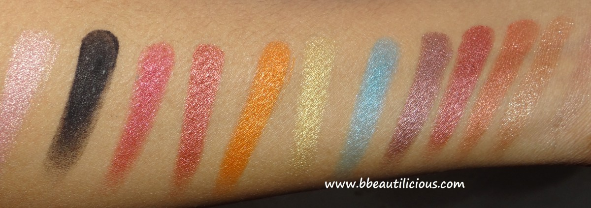 Sleek i divine Sunset eyeshadow palette swatches (4)