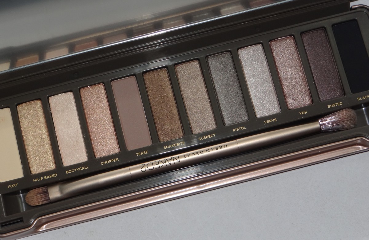 Urban Decay Naked 2 palette swatch