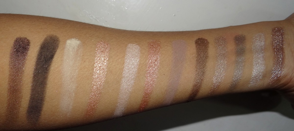 Urban Decay Naked 2 palette swatches and review