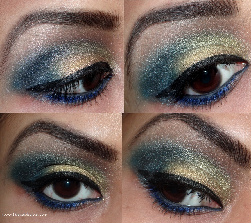 eye makeup looks using sleek sunset palette