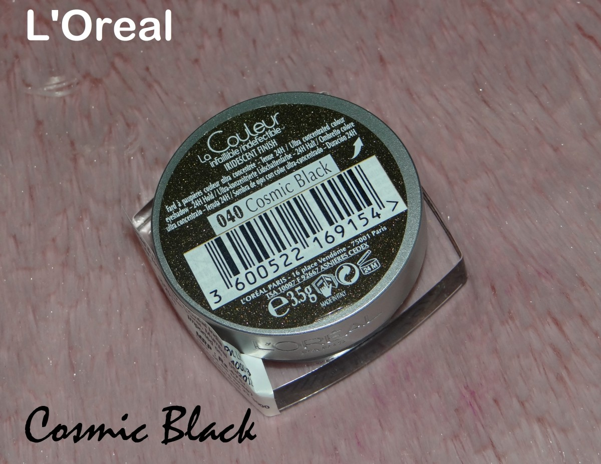 L'Oreal Color Infallible Eyeshadow 040 Cosmic Black