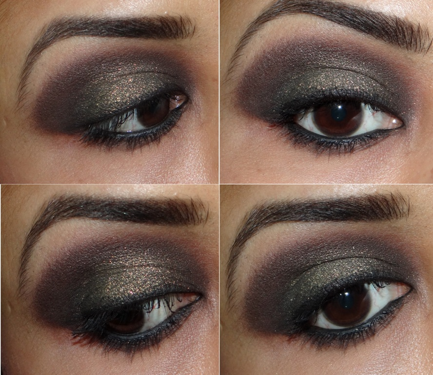 L'Oreal Color Infallible Eyeshadow 040 Cosmic Black eotd and swatches