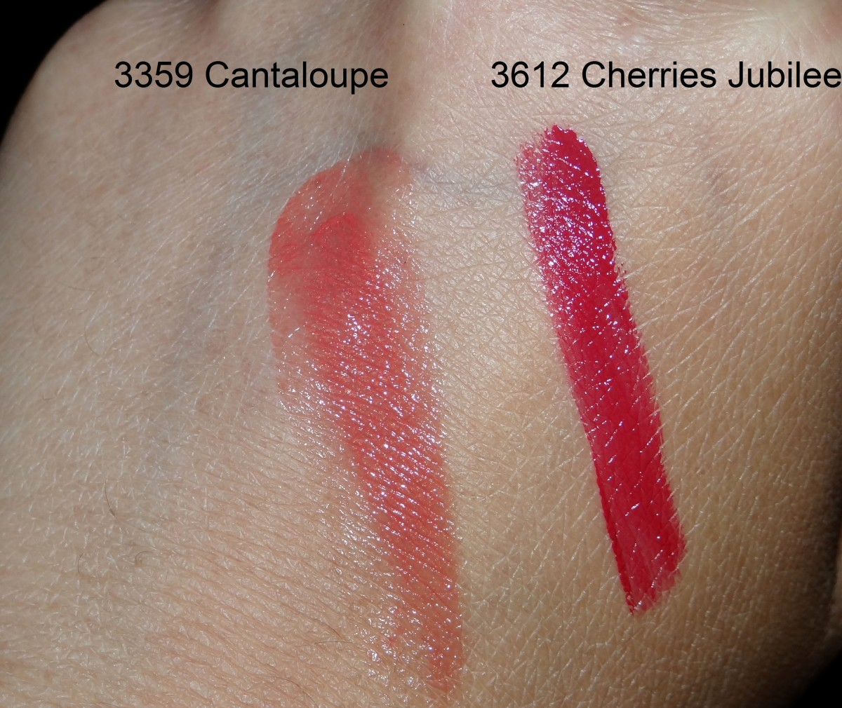 Mary Kay Signature Creme Lipstick shade swatches