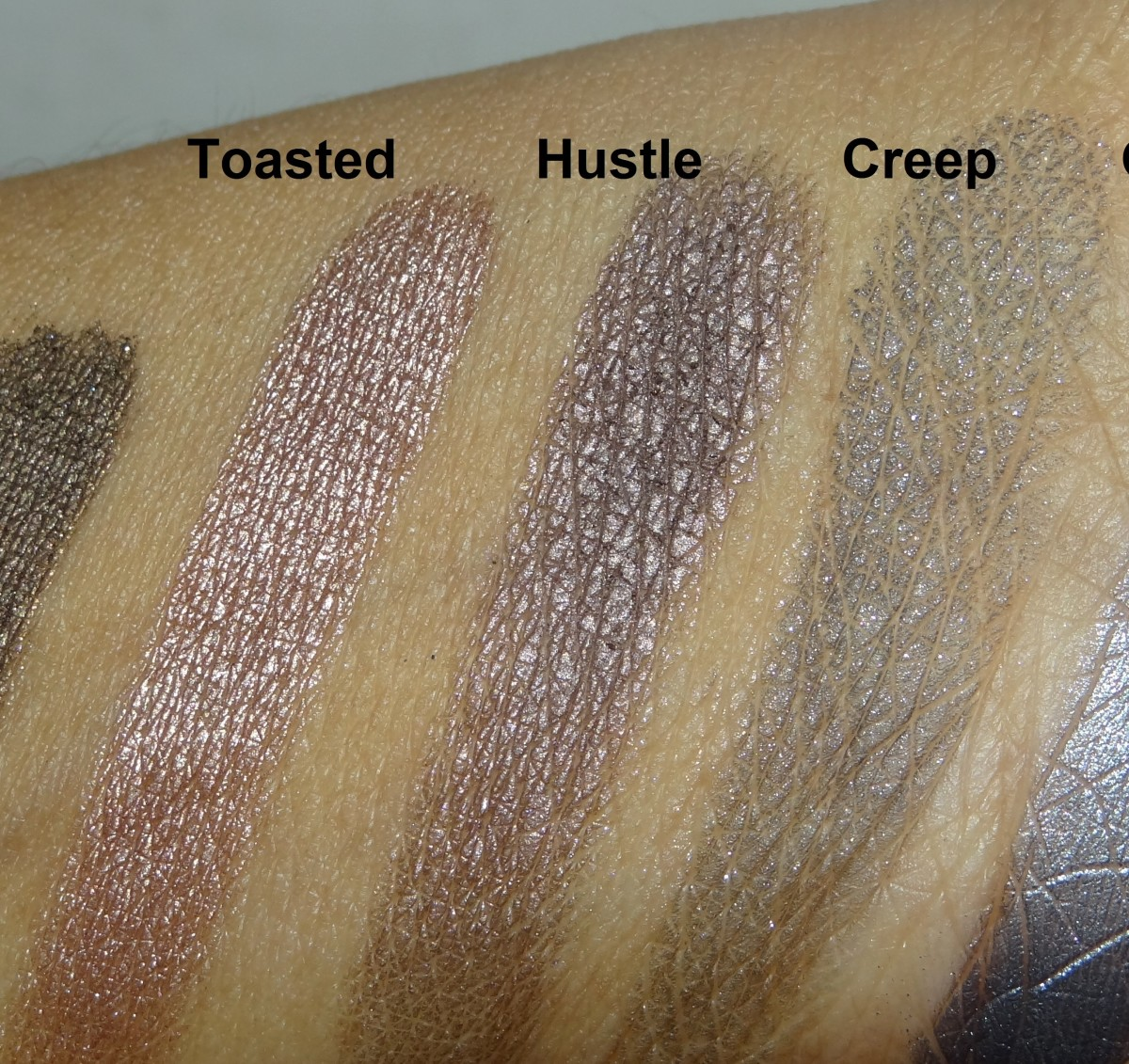 Urban Decay Naked Palette swatches (4)