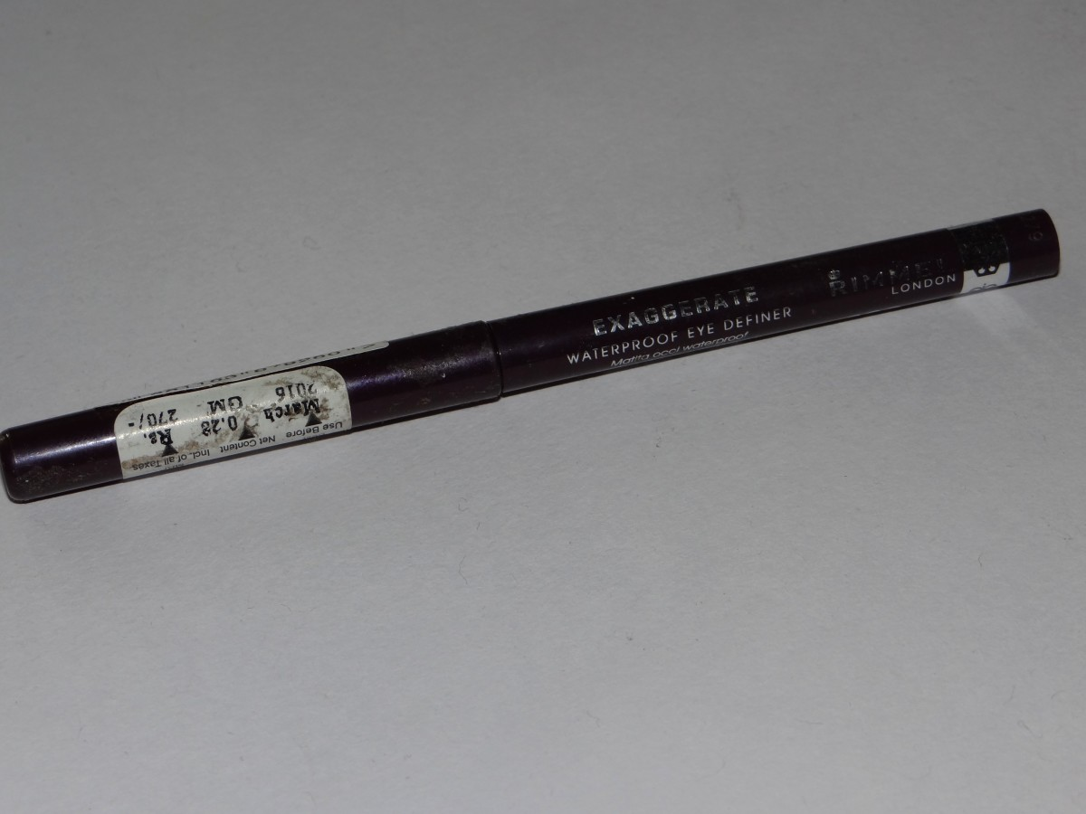 Rimmel Exaggerate Waterproof eye definer deep wine  (3)