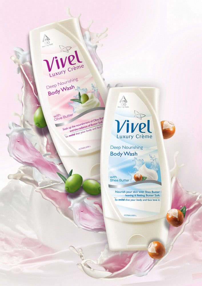 Vivel Luxury Creme body wash_Olive & Shea butter bottles