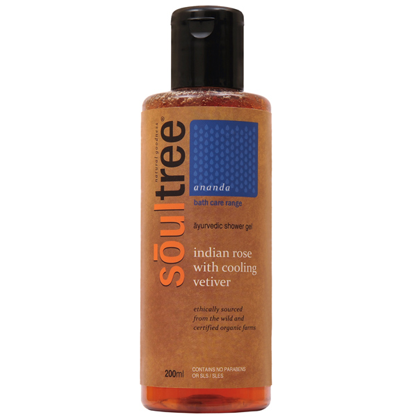 SoulTree Indian Rose with Cooling Vetiver Shower Gel