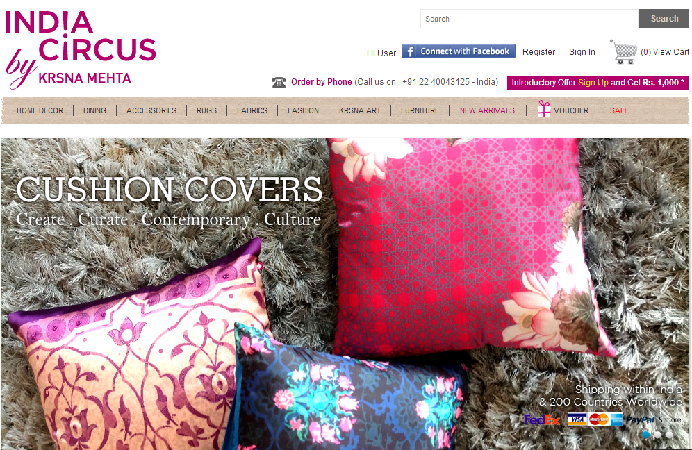 Online Shopping Experience with India Circus