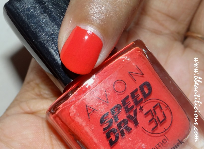 Avon Speed Dry Nail Enamel Orange You Quick  (2)