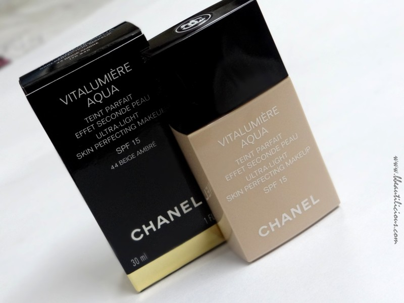 Chanel Vitalumiere Aqua Foundation (1)