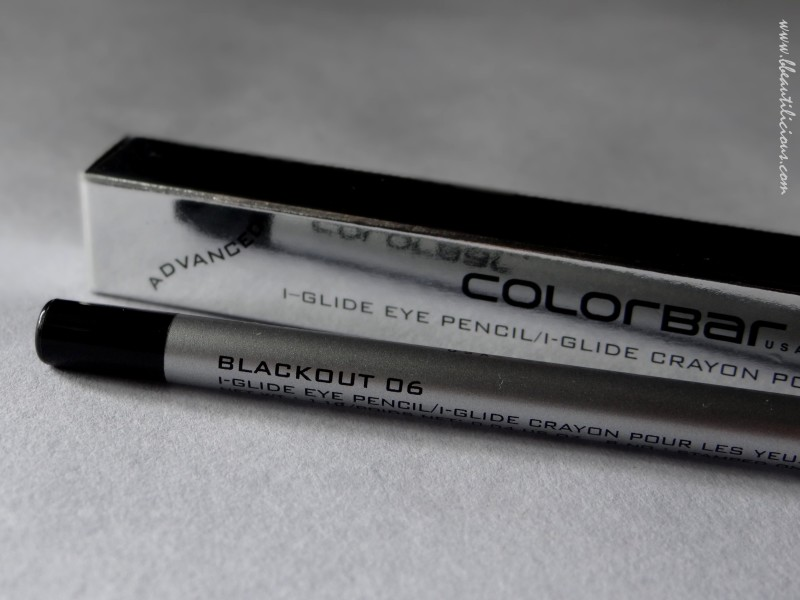 Colorbar i glide eye pencil blackout review swatches (2)