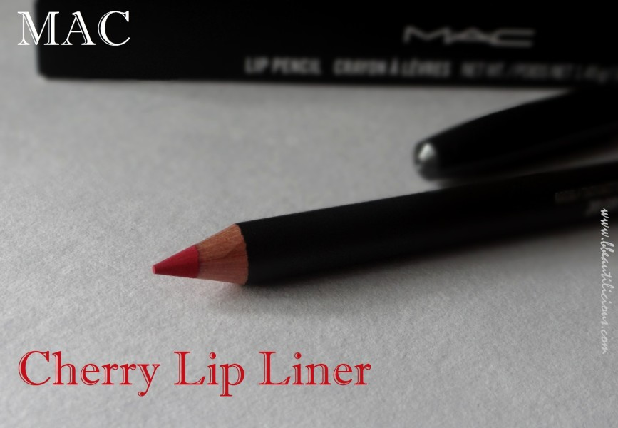 MAC Cherry Lip Liner Review swatches  (4)
