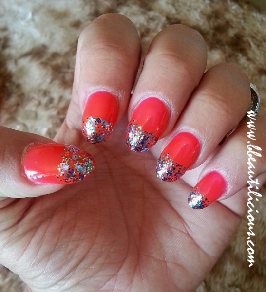 W7 Nail Polish #15 Fluorescent Pink review (2)