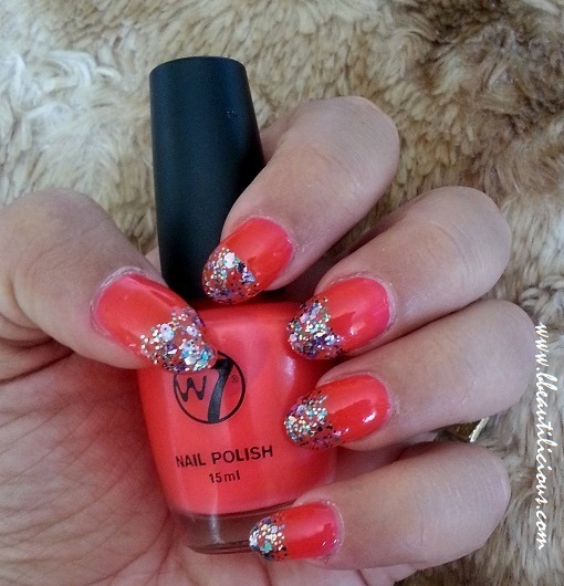 W7 Nail Polish #15 Fluorescent Pink review (3)