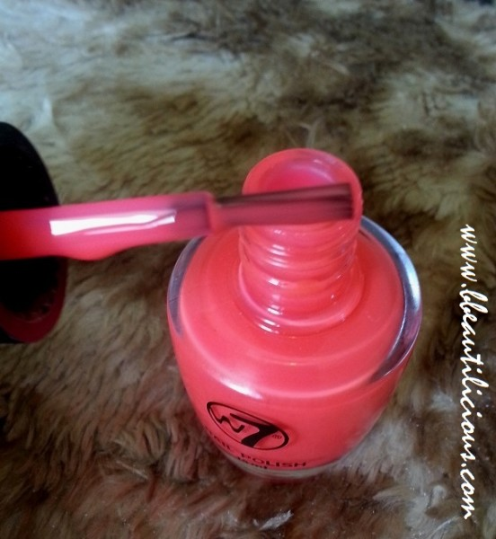 W7 Nail Polish #15 Fluorescent Pink review (4)