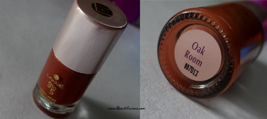 Lakme 9 to 5 nail color Oak Room (2)
