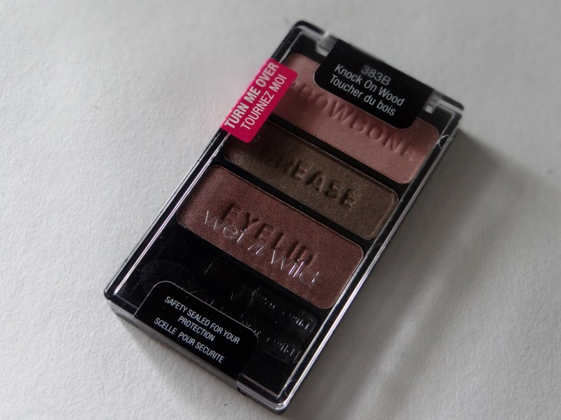 Wet n Wild Knock On Wood Eyeshadow Trio Review Swatches Photos