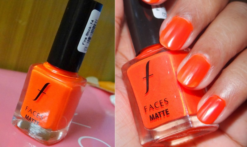 Faces Fire Stick Matte Nail Enamel Review