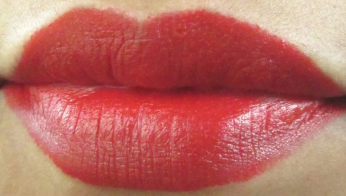 NYX Matte Lipstick Pure Red Review (3)