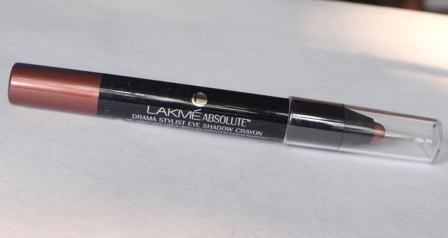 Lakme absolute drama stylist eyeshadow crayon bronze review (2)