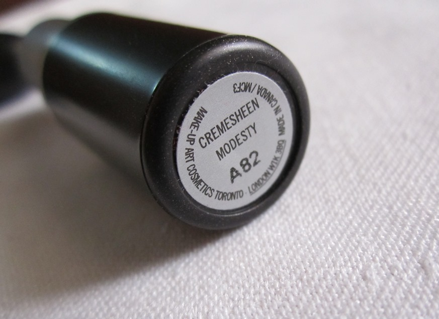 MAC Modesty Lipstick Review Swatches PhotosBe Beautilicious